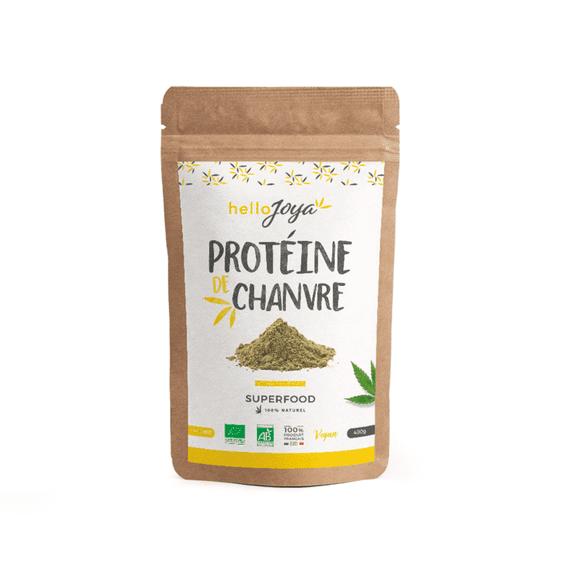 hello joya Date courte 03/20 Hello Joya Protéines de Chanvre Bio 400g Protéines végétales facilement digestibles