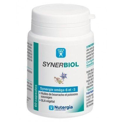nutergia Synerbiol 60 Capsules Nutergia Complément alimentaire à base d?Huile de Bourrache vierge et de Poissons sauvages