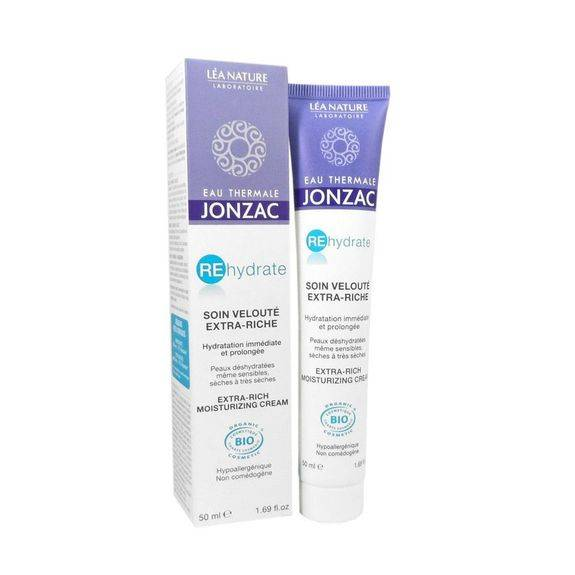 Jonzac Rehydrate Soin velouté extra Riche bio 50ml Hydratation immediate et prolongée