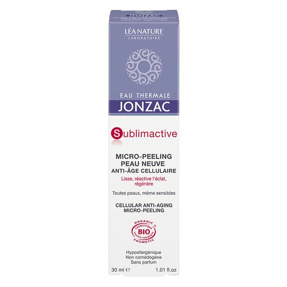 Jonzac Sublimactive micro peeling Bio 30 ml Soin de nuit anti-âge sans parfum exfoliant, lissant, régénérant