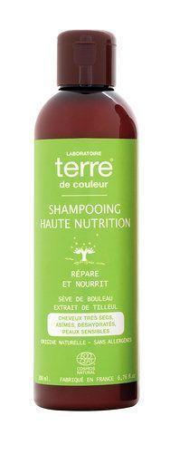 Terre de couleur shampooing bio haute nutrition 200ml Répare et nourrit