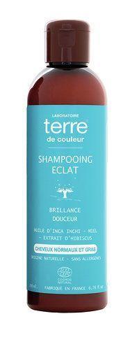 Terre de couleur shampooing bio éclat 200ml Brillance et douceur