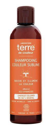 Terre de couleur shampooing bio couleur sublime 200ml Ravive et illumine la couleur