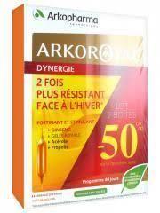 arkopharma ArkoRoyal Dynergie: Complexe Stimulant lot 2 X 20 ampoules Complexe à base de ginseng, gelée royale, acérola et propolis spécialement formulé pour stimuler les défenses naturelles