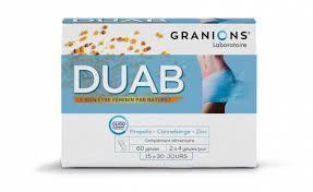 Duab Tractus 60 gélules format économique DUAB 60 GELULES CRANBERRY PROPOLIS NUTRIVERCELL GENES ET INFECTIONS URINAIRES