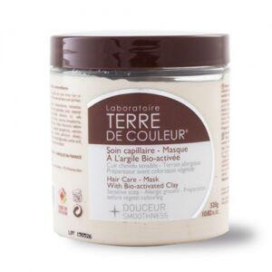 Terre de Couleur Masque capillaire Douceur 250ml Soin détoxinant et préparation des cheveux avant une coloration végétale.