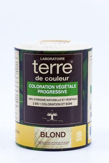 Terre de Couleur - Soin colorant 100% végétal Blond Soin colorant 100% végétale pour cheveux blancs à blonds foncés