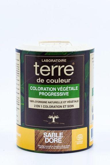 Terre de Couleur - Soin colorant 100% végétal sable doré Soin colorant 100% végétale pour cheveux blancs à blonds foncés