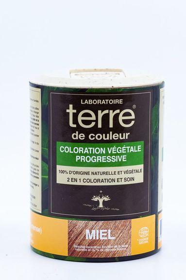 Terre de Couleur - Soin colorant 100% végétal noisette/ miel Soin colorant 100% végétale pour cheveux blonds foncés à chatains foncés