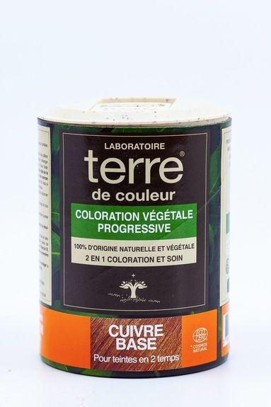 Terre de Couleur - Soin colorant 100% végétal cuivr base Soin colorant 100% végétale pour cheveux blonds clairs à chatains foncés
