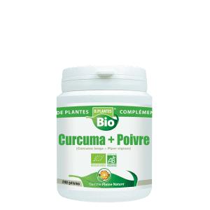 D.Plantes Bio Curcuma et poivre 200 gélules Effet apaisant sur les articulations sensibles.