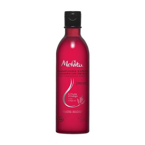 Melvita Shampooing expert bio à l'huile d'indigo 200ml Couleur et Cuir Chevelu