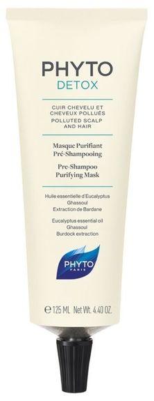 phytosolba Phyto Detox Masque Purifiant Pré-Shampooing 125 ml Soin purifiant et détoxifiant pour cuir chevelu et cheveux pollués.