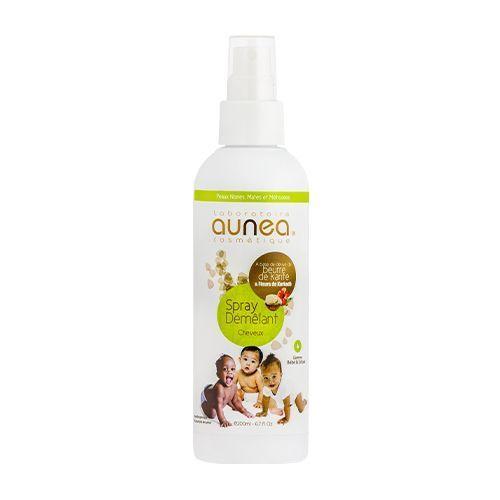Aunea Spray démélant Cheveux pour bébé et enfant 200ml format éco Spray démélant