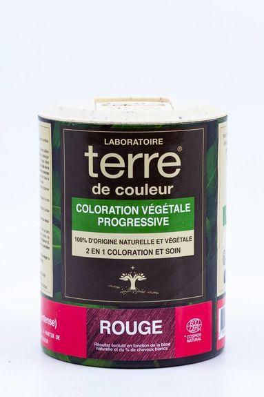 Terre de Couleur - Soin colorant 100% végétal rouge Soin colorant 100% végétale pour cheveux blonds foncés à chatains foncés
