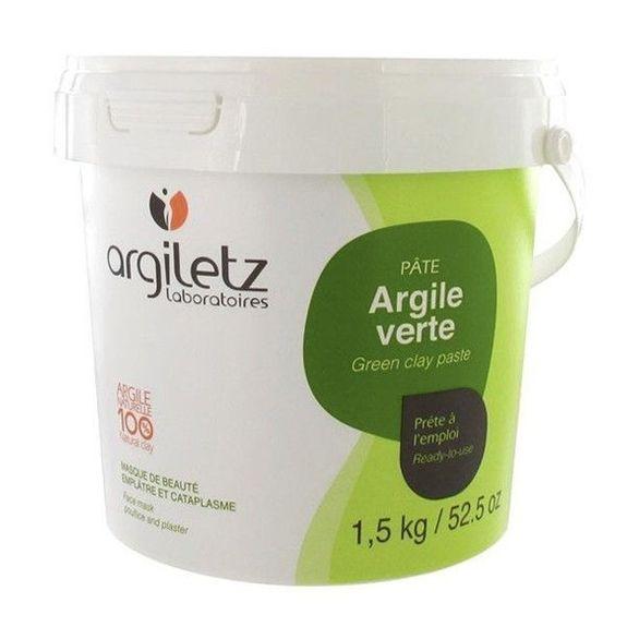 Argiletz Pot argile verte prête à l'emploi 1.5kg Exceptionnellement riche en minéraux et oligo-éléments rares