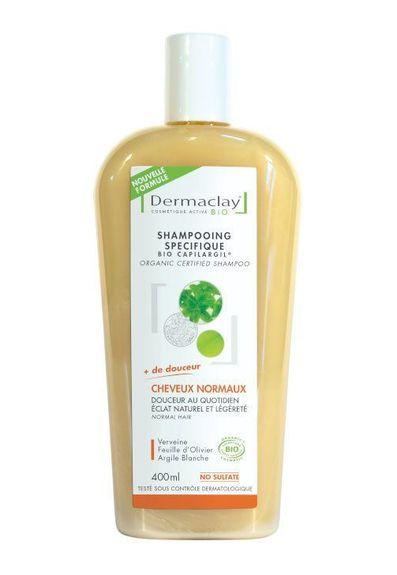Dermaclay Bio Shampoing Familial Anti-calcaire 400ml Neutralise le calcaire, apporte douceur et brillance