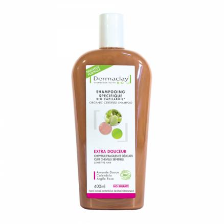 Dermaclay Bio Shampoing extra douceur 400ml Cheveux Fragiles et Délicats