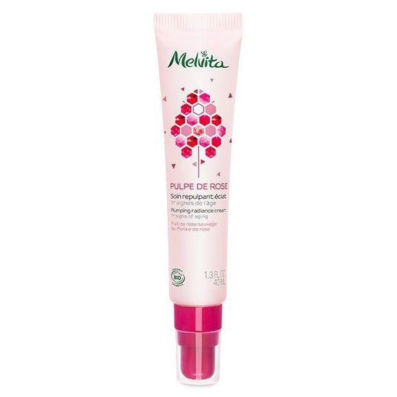 Melvita pulpe de rose soin repulpant éclat 40ml Réveille les peaux fatiguées