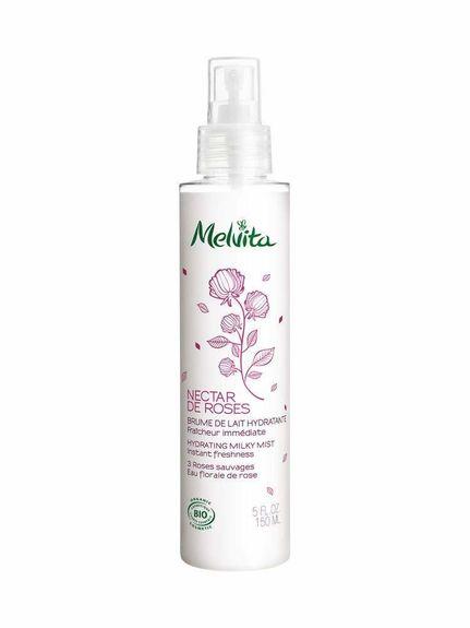 Melvita Nectar de Roses Brume de Lait Hydratante bio 150 ml Hydrater et rafraîchir le corps.