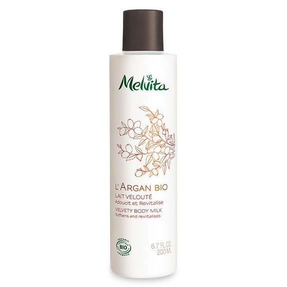 Melvita L'Argan Bio Lait Velouté 200 ml Pour adoucir et revitaliser la peau.