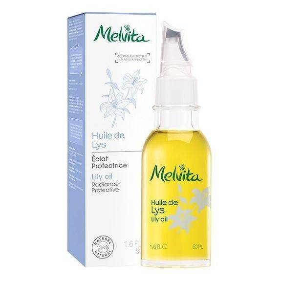 Melvita Huile de Beauté de Lys Naturelle 50ml Soin idéal pour les mains et le visage.