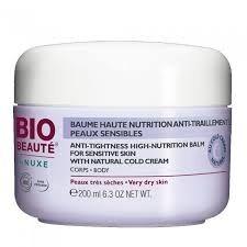 bio beaute Bio beauté baume haute nutrition corps 200ml Ce baume riche, formulé au Cold Cream Naturel exclusif BIO-BEAUTÉ® by Nuxe, nourrit (Huile d?Amande douce Bio), protège la barrière cutanée