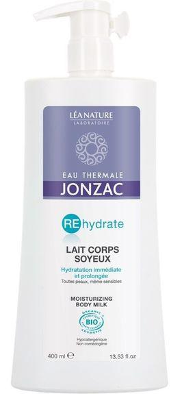 Jonzac Bio Rehydrate Lait Corps Réhydrant 400 ml Hydratation corporelle quotidienne des peaux déshydratées