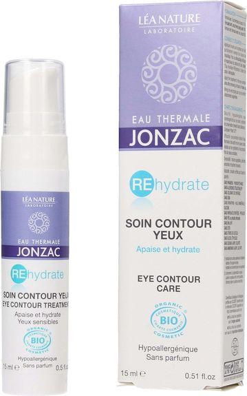 Jonzac Bio Rehydrate Soin Contour des Yeux 15ml Hydratation quotidienne et apaisement du contour des yeux