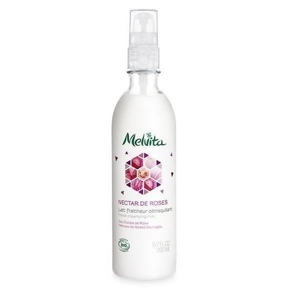 Melvita Nectar de Roses Lait Bio Démaquillant 200 ml Lait fraîcheur démaquillant
