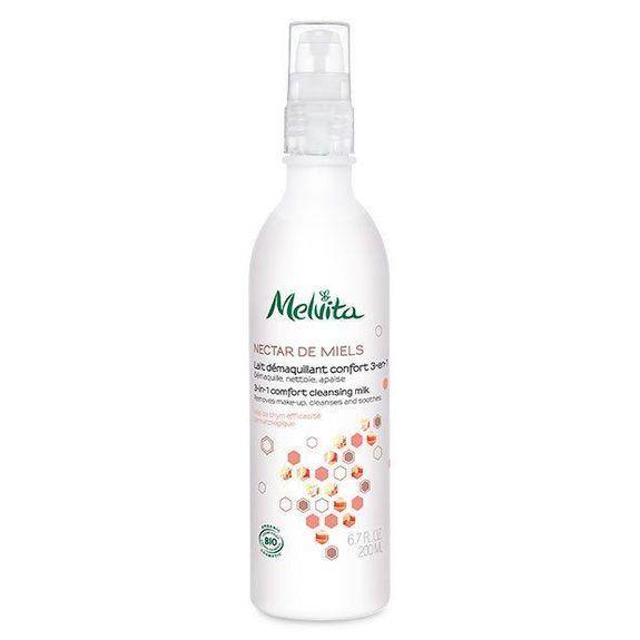Melvita Nectar de Miels Lait Démaquillant Bio 200ml Pour démaquiller, nettoyer et apaiser.