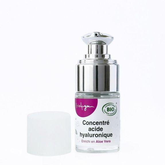 Abiocom Concentré Acide Hyaluronique bio 15ml Enrichi en aloé véra
