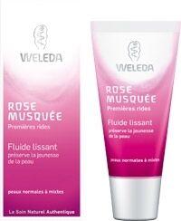 Weleda Fluide lissant rose musquée 30ml Peaux normales à mixtes