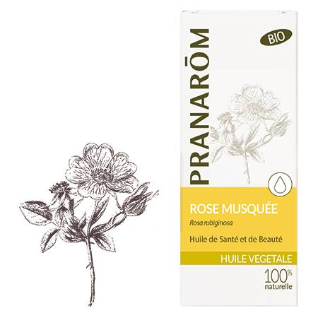 Pranarom Rose musquée Bio huile végétale 50ml 100% huile végétale de : Rose musquée du Chili