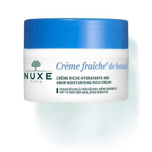 Nuxe Crème fraîche de Beauté Riche hydratante 48h Pot 50ml Creme riche hydratante 48h - anti-pollution Pour les peaux sensibles, peaux sèches à très sèches