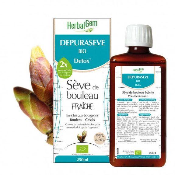 Herbalgem Depuraseve Sève De Bouleau fraiche bio 250ml Dépuratif régénérant