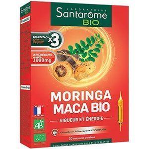 Santarome Bio Moringa Maca Bio 20 ampoules Vigueur et énergie