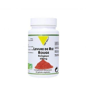 Vitall+ levure de riz rouge bio 60 gélules végétales Extrait standardisé à 1,6% de 600mg