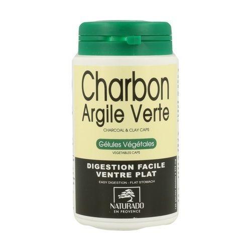Naturado Argile verte Charbon végétal 120 gélules végétales Digestion facile - Ventre plat.