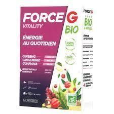 nutrisante Force G bio vitality 20 ampoules Nutrisanté Formule 100 % naturelle est riche en extrait de plantes aux vertus vitalisantes