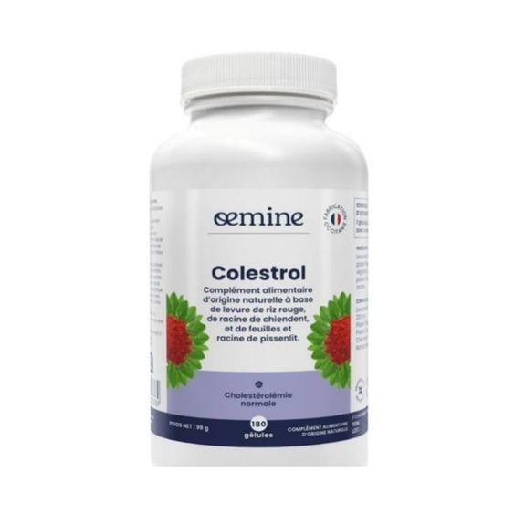 Oemine colestrol 180 gelules format économique Levure rouge de riz et cire d?abeille pour contribuer à maintenir le taux de cholestérol normal