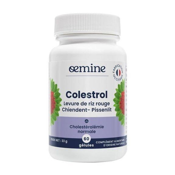Oemine colestrol 60 gelules Levure rouge de riz et cire d?abeille pour contribuer à maintenir le taux de cholestérol normal.