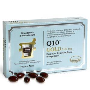 pharma nord Q10 Gold 100mg, 60 capsules Pharma nord Source naturelle d?énergie. La solution pour retrouver vitalité et résistance : prendre de la coenzyme Q10.