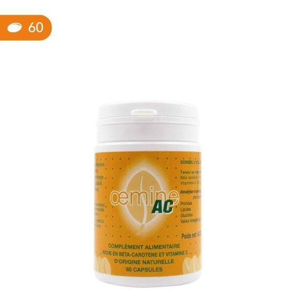 Oemine AC 60 capsules Complément alimentaire destiné à apporter des vitamines A et C