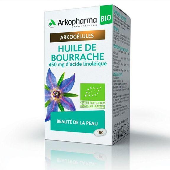 arkopharma Arkogélules Huile de Bourrache 180 capsules Hydratation et protection de la Peau