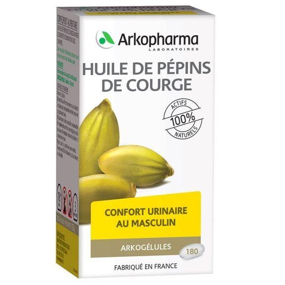 arkopharma Arkogélules Huile de Pépins de Courge 180 capsules L'huile de pépins de Courge favorise le confort d'élimination urinaire chez l'homme.