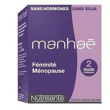 nutrisante Manhaé 2 mois 60 capsules Manhaé est la seule solution d'origine naturelle sans hormone - Bouffées de chaleur, Nervosité, Sueurs nocturnes . Ménopause