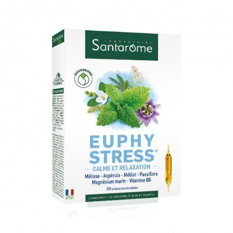 Santarome Euphystress 20 ampoules Le stress, l?irritabilité, souvent liés à des difficultés de sommeil (endormissement difficile, réveil nocturne?), sont un mal du siècle.