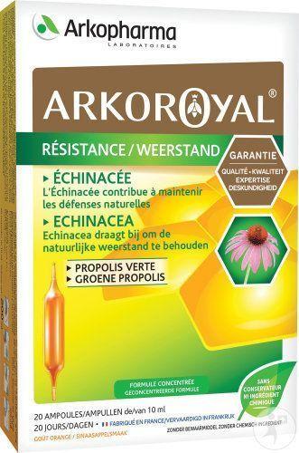 arkopharma Arko Royal Propolis Verte + échinacée 20 ampoules contribue à maintenir les défenses naturelles