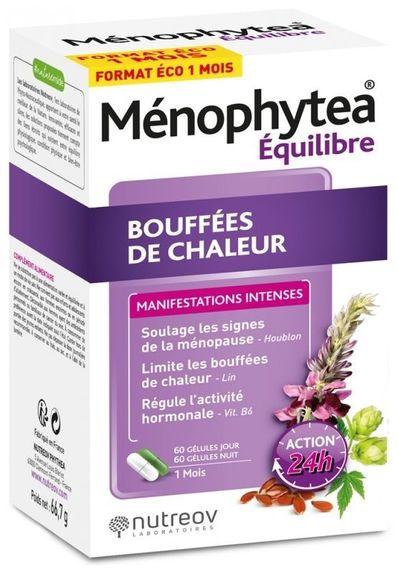 phytea Ménophytea Bouffées de Chaleur 120 Gélules format éco Aide à réduire les bouffées de chaleur. Limite les suées nocturnes.